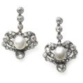 Moira Fine Jewellery - Antique Drop Earrings with Pearl and Diamond Circa 1880 - Victorian Era
